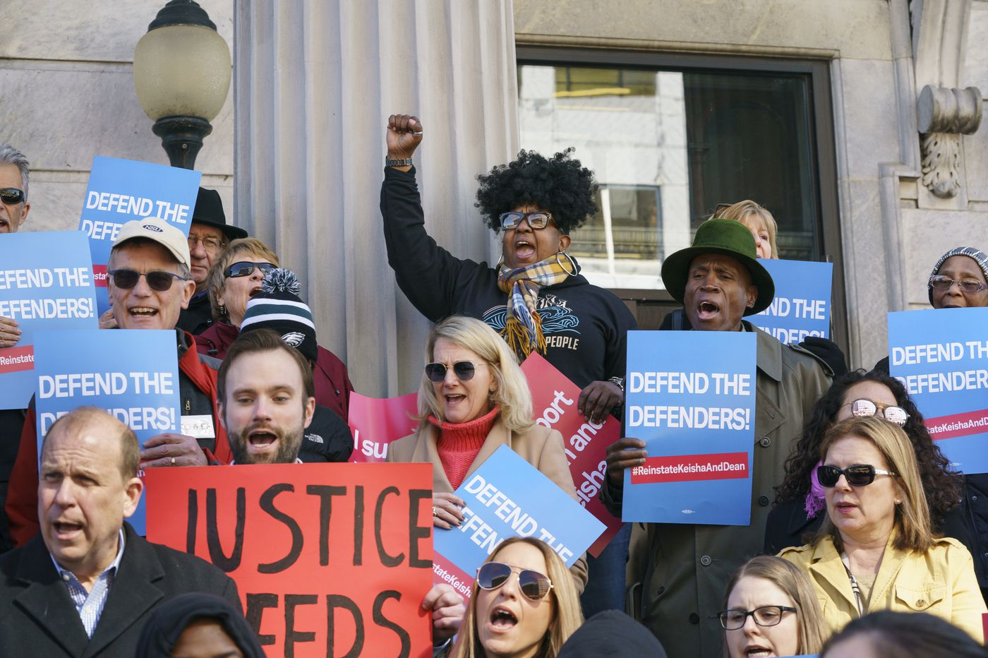 Protesters descend on Montgomery County commissioners meeting to oppose public defenders' firings