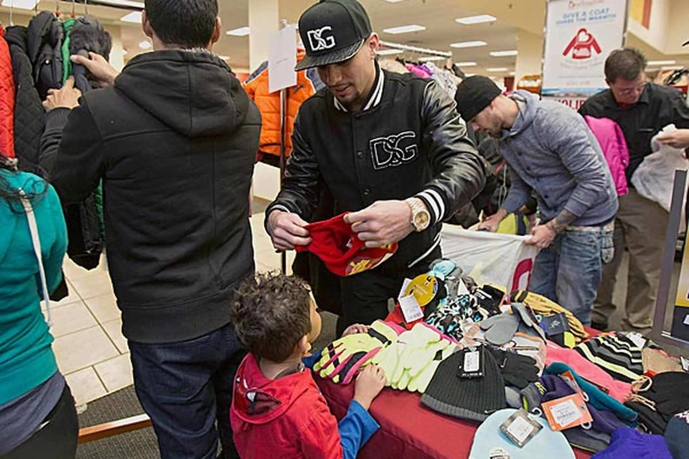 Champion Danny Garcia provides warmth in Hunting Park