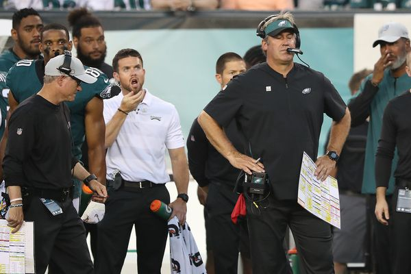 Trouble in paradise? Eagles coach Doug Pederson doesn't see discord, just competitive players.