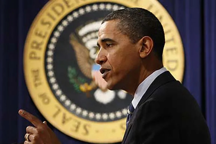 """President Obama has said that his Supreme Court nominee will be """"someone who understands that justice isn't about some abstract legal theory or footnote in a case book."""" (Charles Dharapak/AP)"""