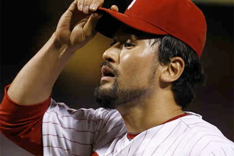 The Phillies are interested in Chan Ho Park only as a reliever, though a baseball source said that Park had not ruled out seeking a starting job. (Ron Cortes / Staff Photographer)