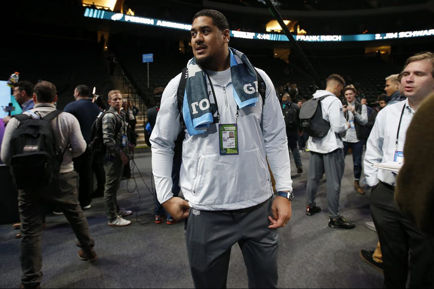 Mentoring Vaitai helps Eagles' Peters feel connected to the Super Bowl