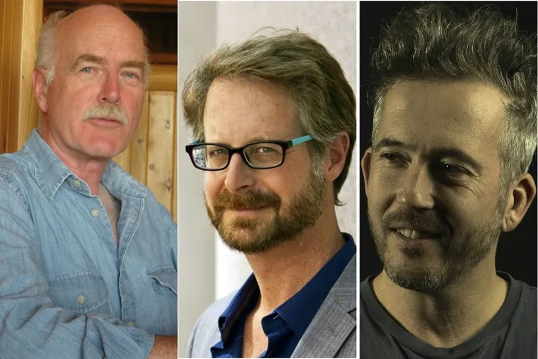 "Authors of ""Philadelphia: Finding the Hidden City"" (left to right:) Joseph E.B. Elliott, Nathaniel Popkin, and Peter Woodall."