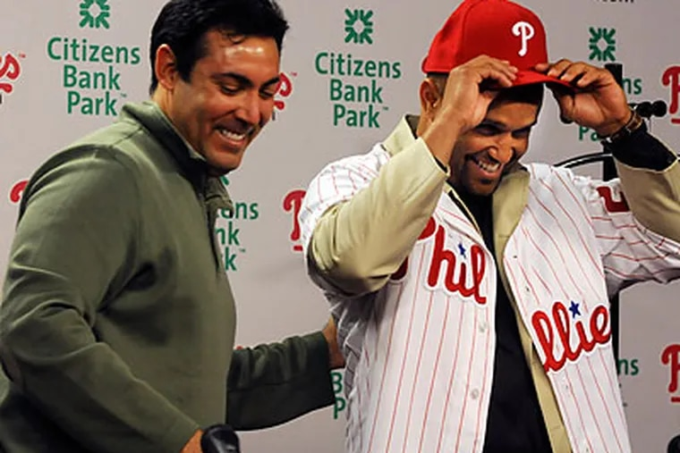 """""""I'm pretty much a bird-in-hand guy,"""" Phillies GM Ruben Amaro Jr. said Thursday. """"I usually like to move quickly."""" (Sarah J. Glover/Staff Photographer)"""