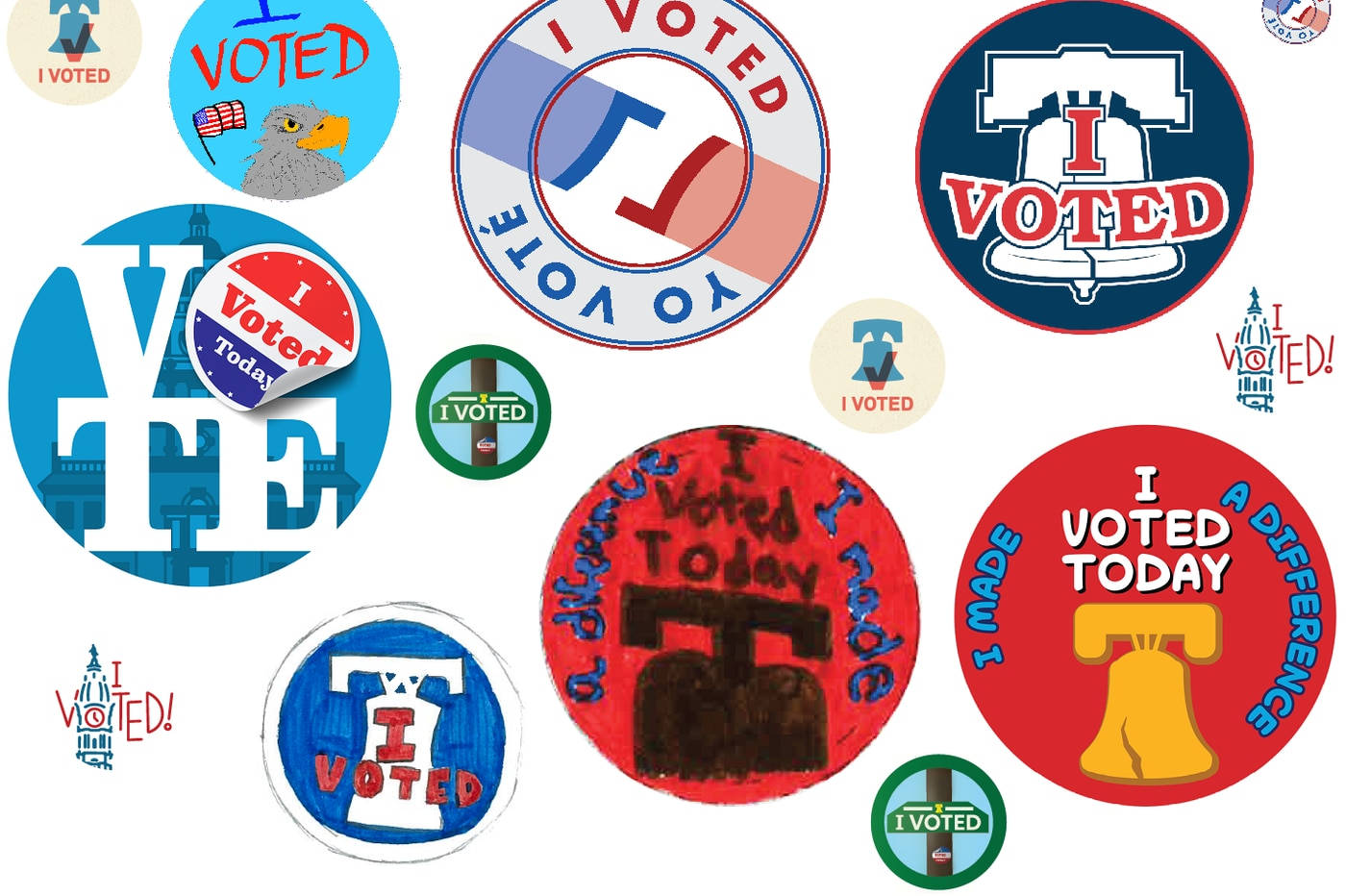 One of these will be Philly's new 'I Voted' sticker