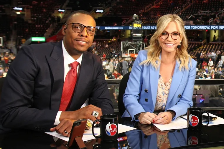 NBA Countdown host Michelle Beadle and NBA studio analyst Paul Pierce, who offered some details about an infamous 2008 mystery that happened while he played for the Celtics.