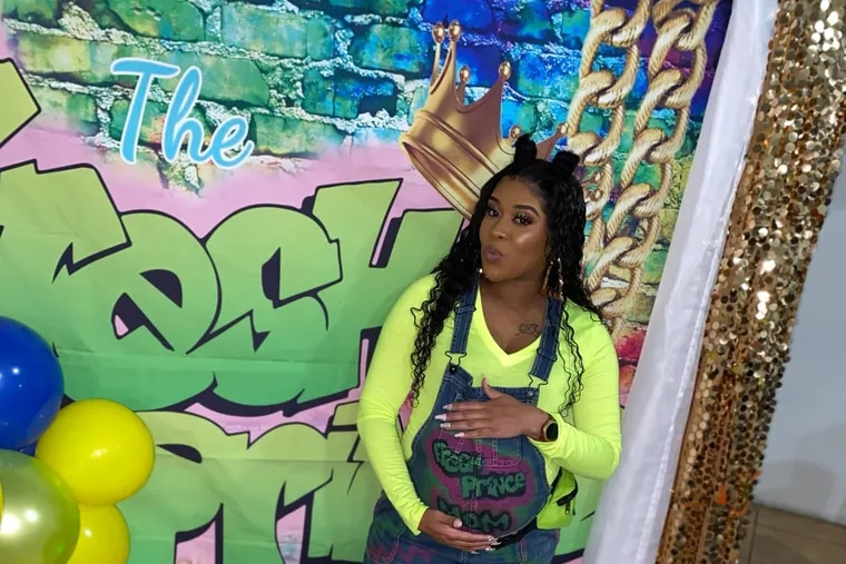 """Chaunae Berry was inspired to have a Fresh Prince baby shower because she loved watching The Fresh Prince of Bel-Air reruns with her dad and has been calling her son """"Prince"""" while he's in the womb."""