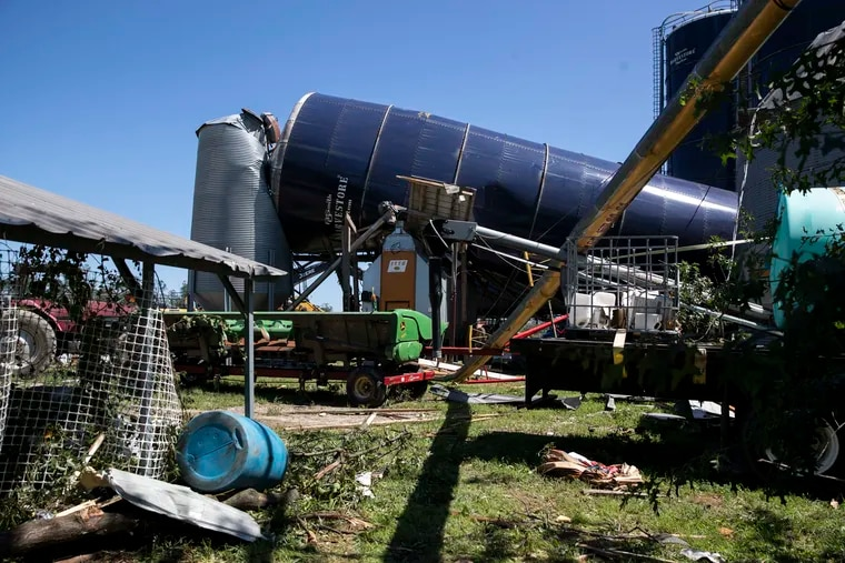 The Mullica Hill tornado caused significant damage at Wellacrest Farms in Mullica Hill, N.J. as seen on Sept. 2. Remnants of Ida moved through the Philadelphia area Wednesday into Thursday, bringing heavy rain and widespread flooding.