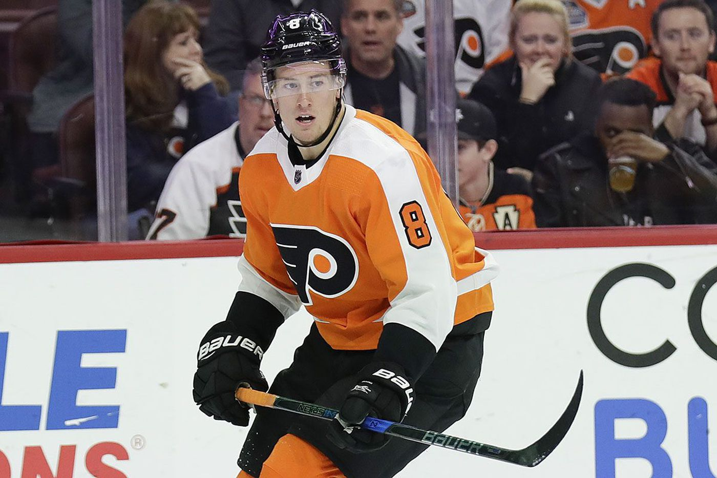 That didn't take long: Robert Hagg elevated to Flyers' top pairing