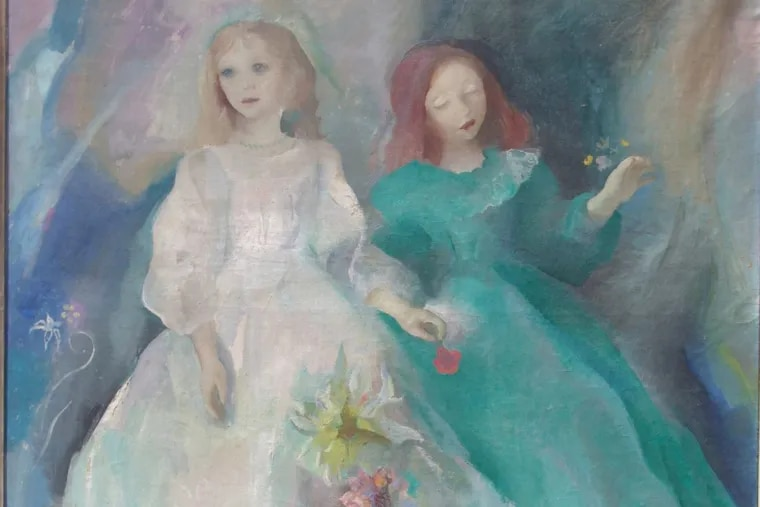 """Detail from Henriette Wyeth's """"Two Children,"""" (1930-32). Oil on canvas."""