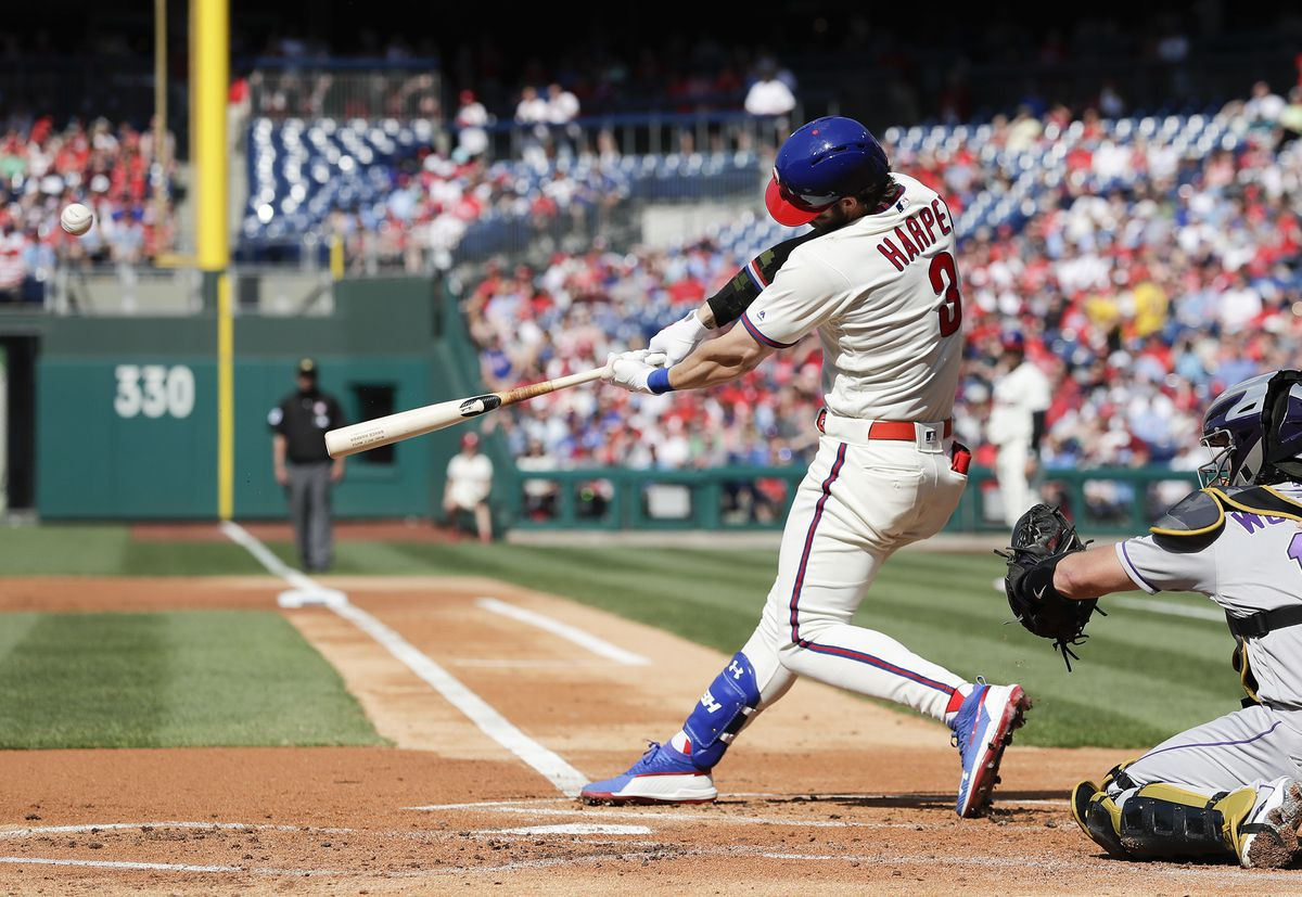 Phillies top Rockies behind Bryce Harper's home run, Aaron Nola's record-tying strikeouts - Philly.com