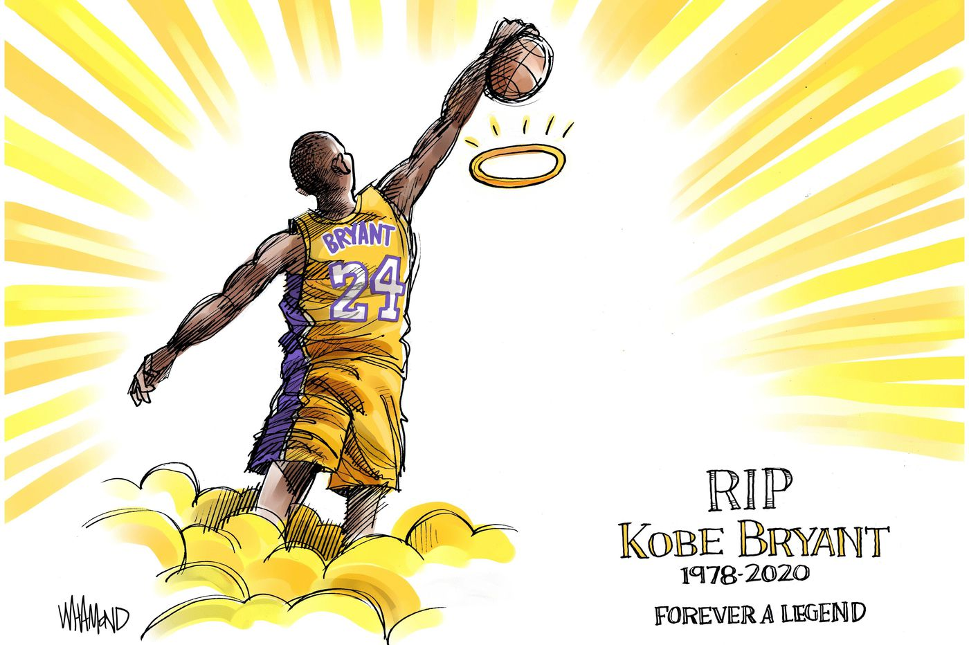Cartoons: Kobe Bryant's death, memorialized by artists around the world | Perspective