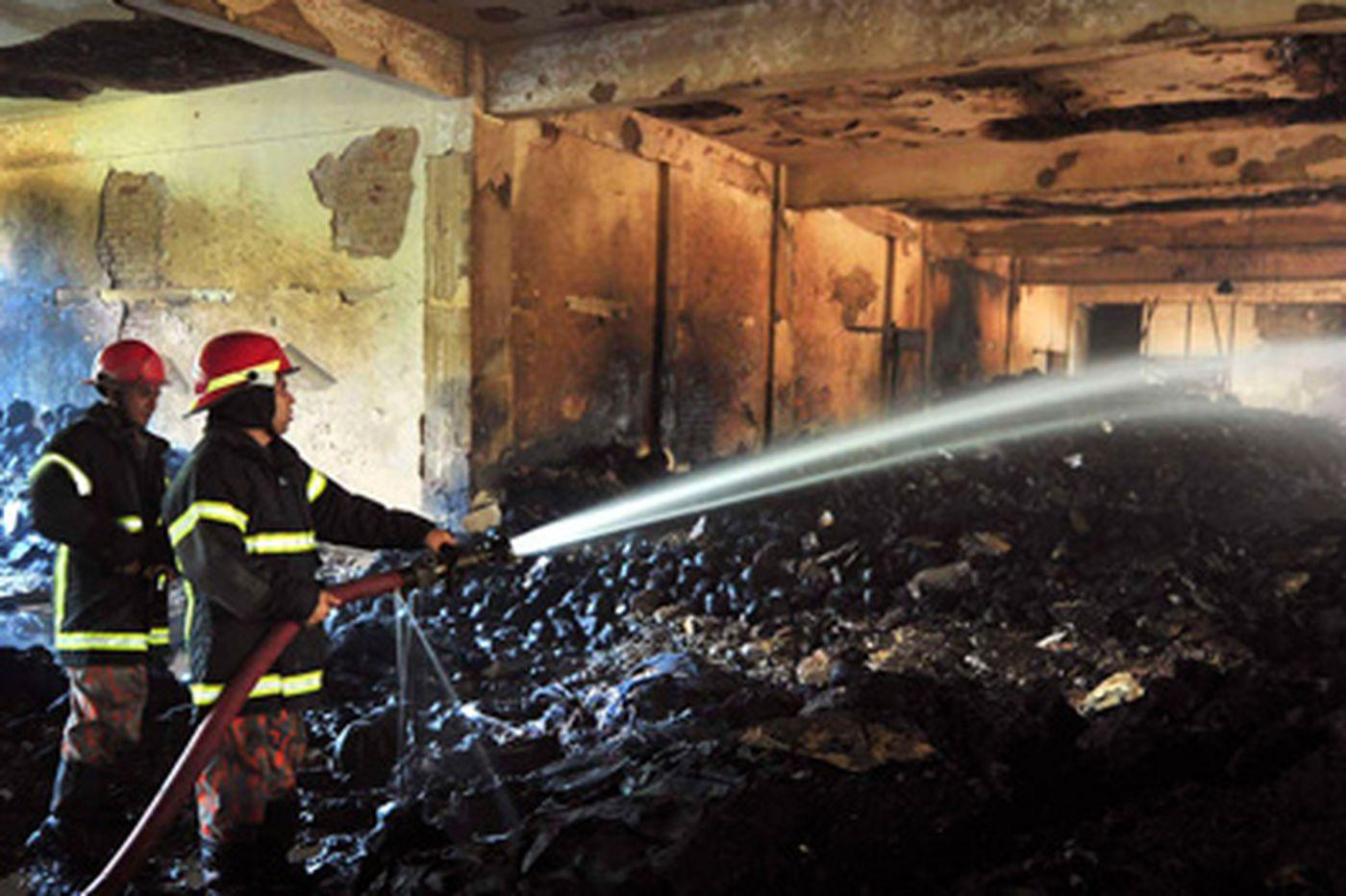 Major retailers' labels found amid fire debris