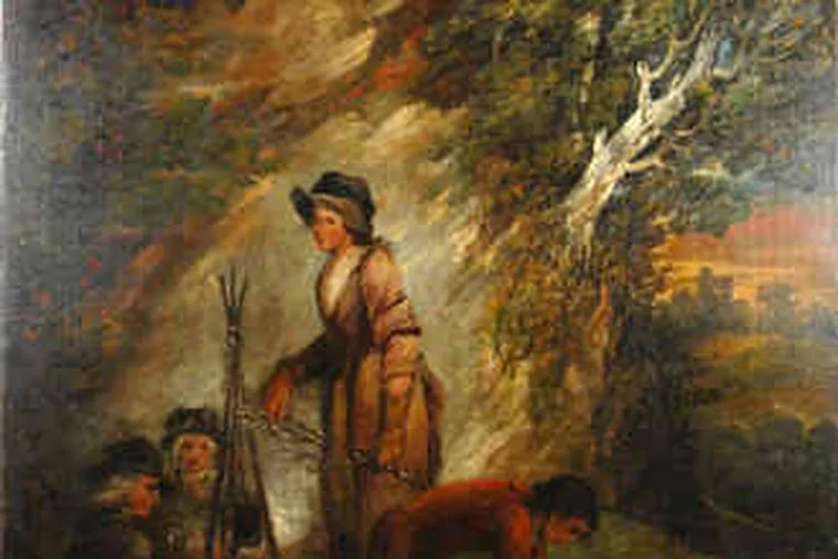 """""""Gypsy Encampment"""" by the British painter George Morland is among the items to go up for auction Jan. 1 at Stephenson's in Southampton."""