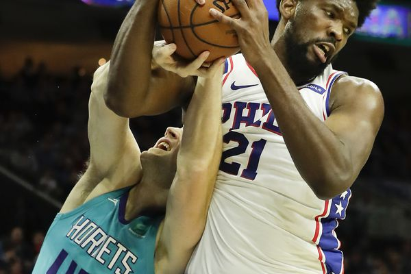 Sixers wear down Hornets in 114-106 win