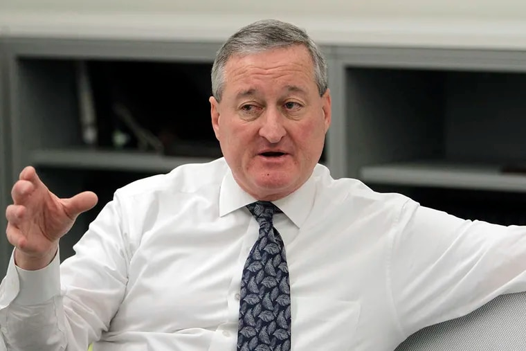 Jim Kenney answers questions by the Inquirer and Daily News editorial board at the Inquirer and Daily News office in Philadelphia on April 1, 2015. ( STEPHANIE AARONSON / Staff Photographer )