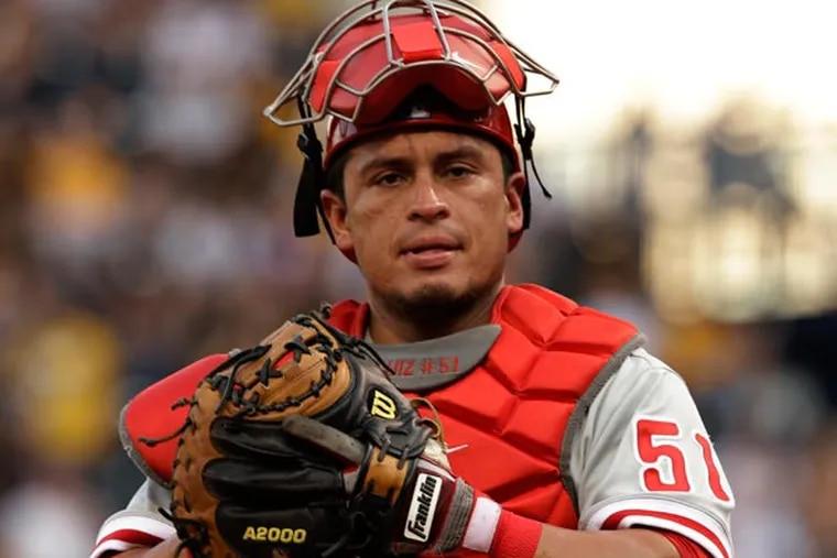 Phillies catcher Carlos Ruiz. (Gene J. Puskar/AP)