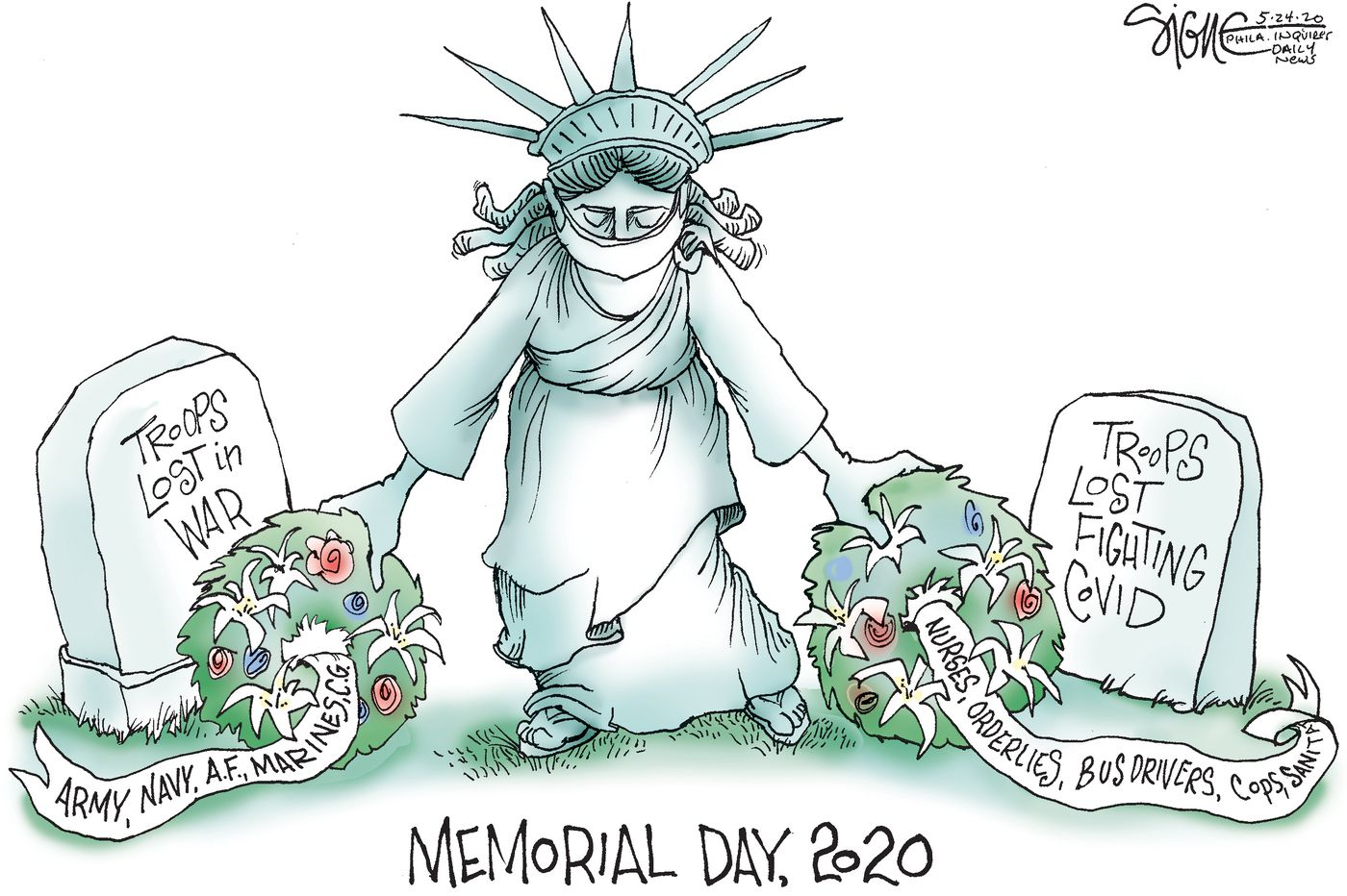 Political Cartoon: Remembering on Memorial Day