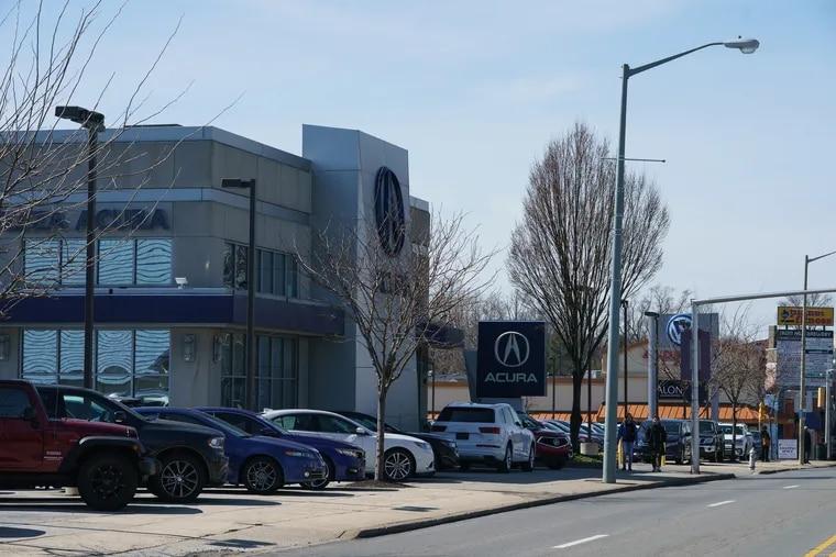 Acura and Volkswagen dealerships, in Ardmore.