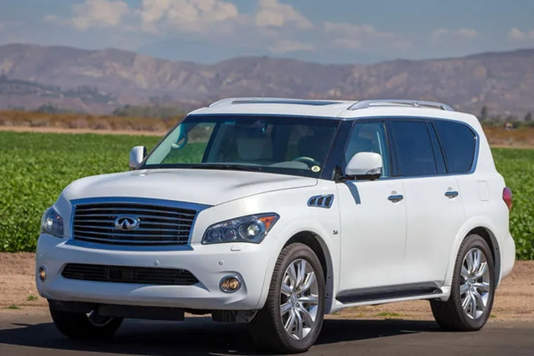 The 2014 Infiniti QX80 - formerly the QX56. The roomy interior is as memorable as its body is forgettable.