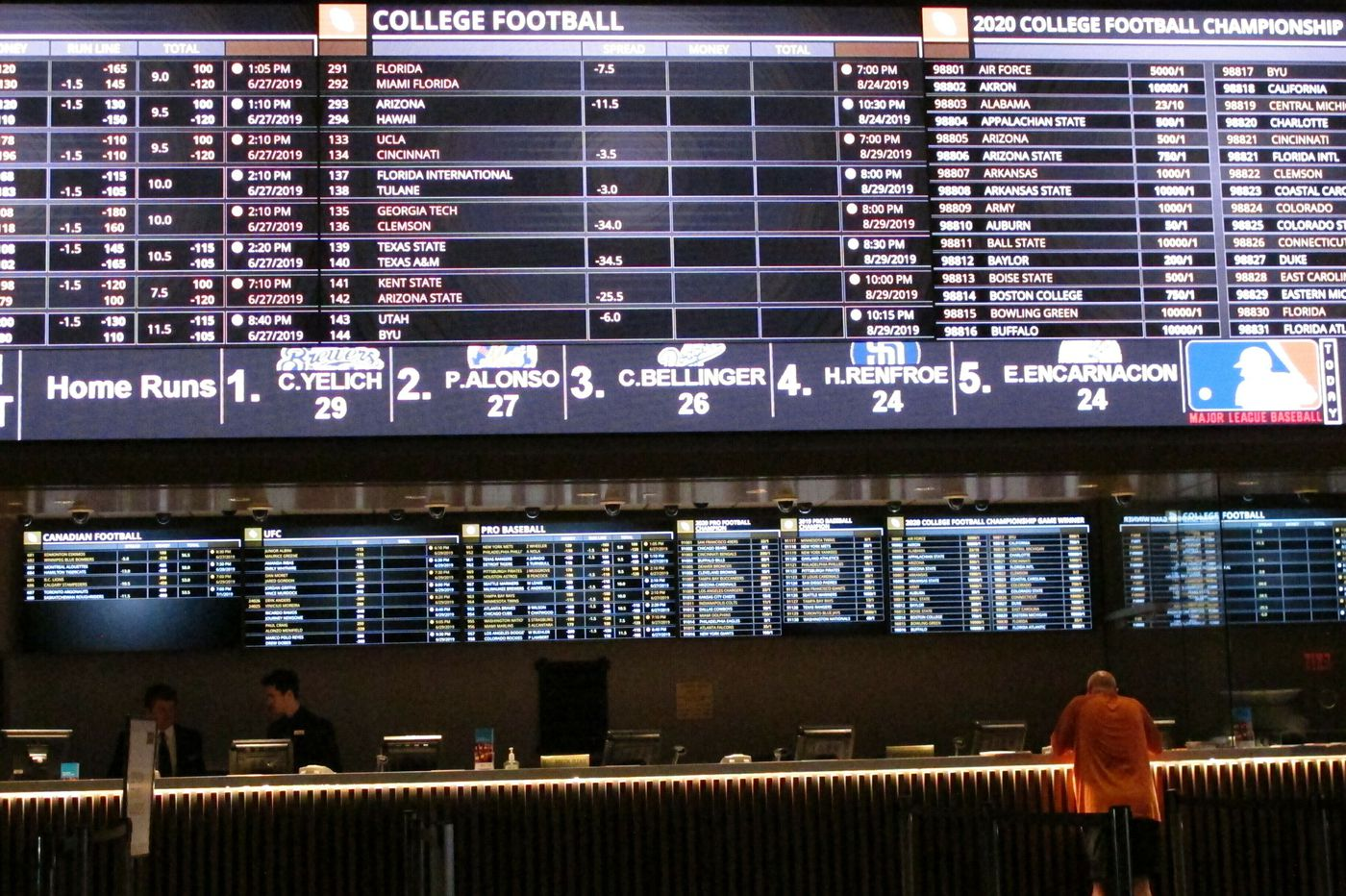 Sportsbooks and coronavirus cancellations: It's gonna be ugly
