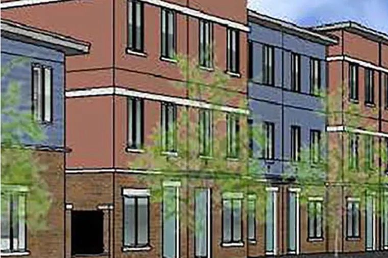 Rendering of the affordable townhouses in Port Richmond.