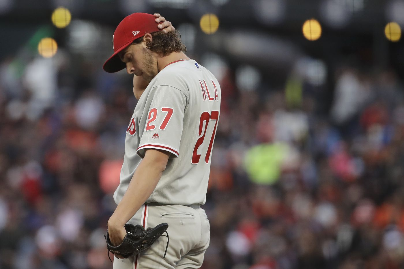 Phillies held to one hit by Giants in 5-0 loss, fall out of wild-card spot