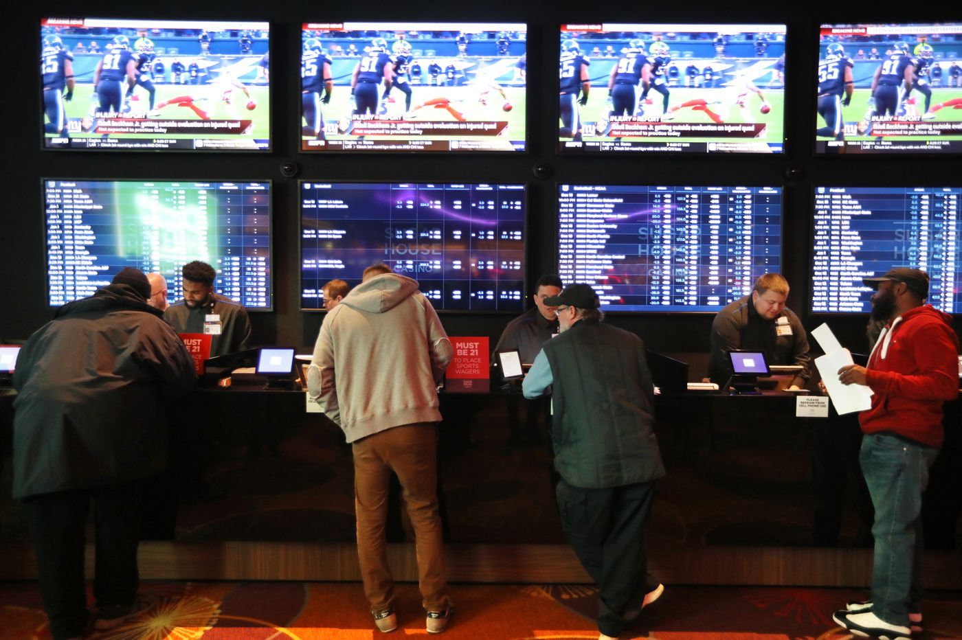 Pennsylvania's sports-betting handle doubles in January, but it still lags New Jersey by far