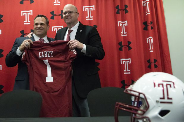 Temple hires two offensive football assistants from Northern Illinois