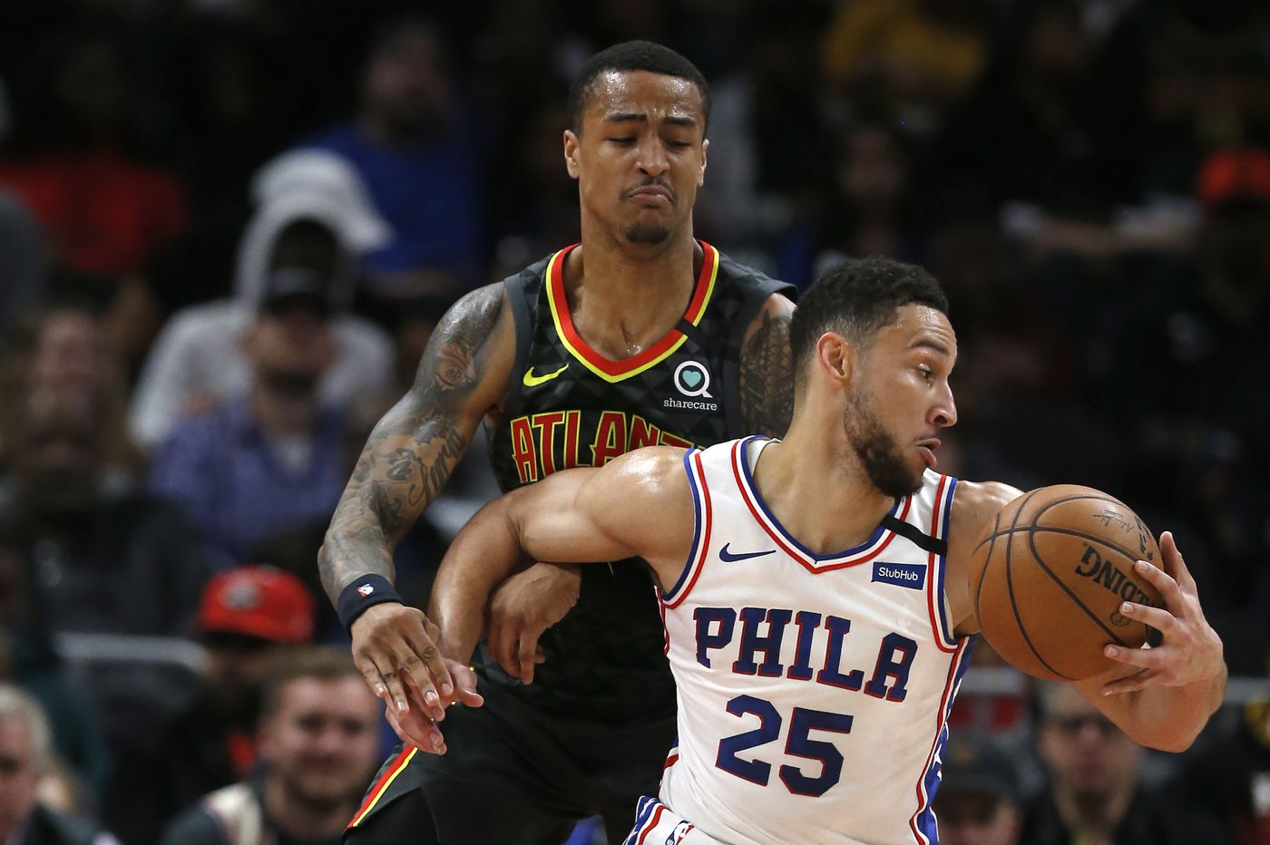 Sluggish Sixers fall on the road to lowly Atlanta Hawks, 127-117
