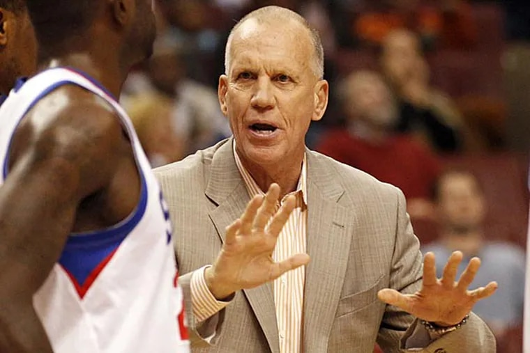 Sixers head coach Doug Collins. (Yong Kim/Staff Photographer)