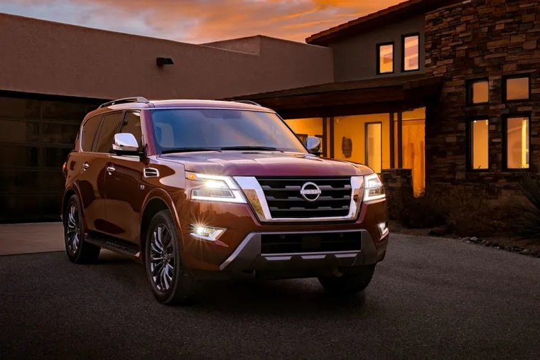 The Nissan Armada gets a new look for the 2021 model year, but its handling has improved only a bit.