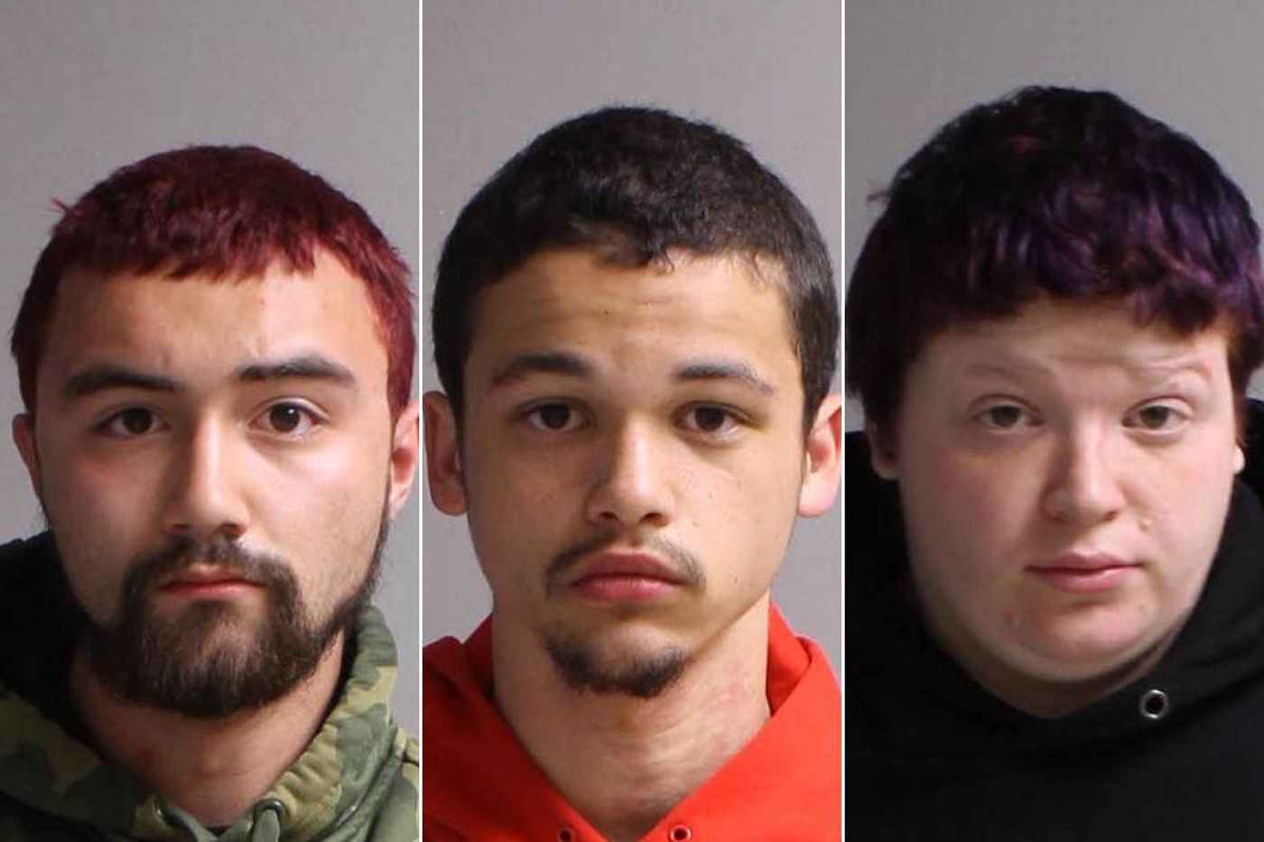 Dylan Pontaski, Shawn Carter, and Hollie Kulp are charged with trying to break into businesses shuttered by the coronavirus pandemic.