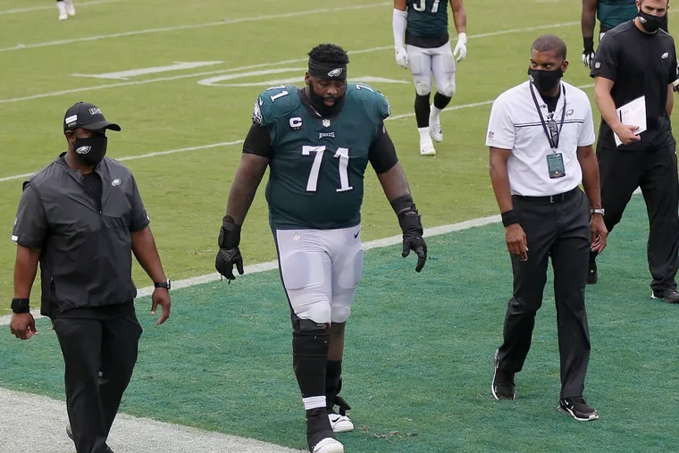 Jason Peters probably has walked off the field in an Eagles uniform for the last time.