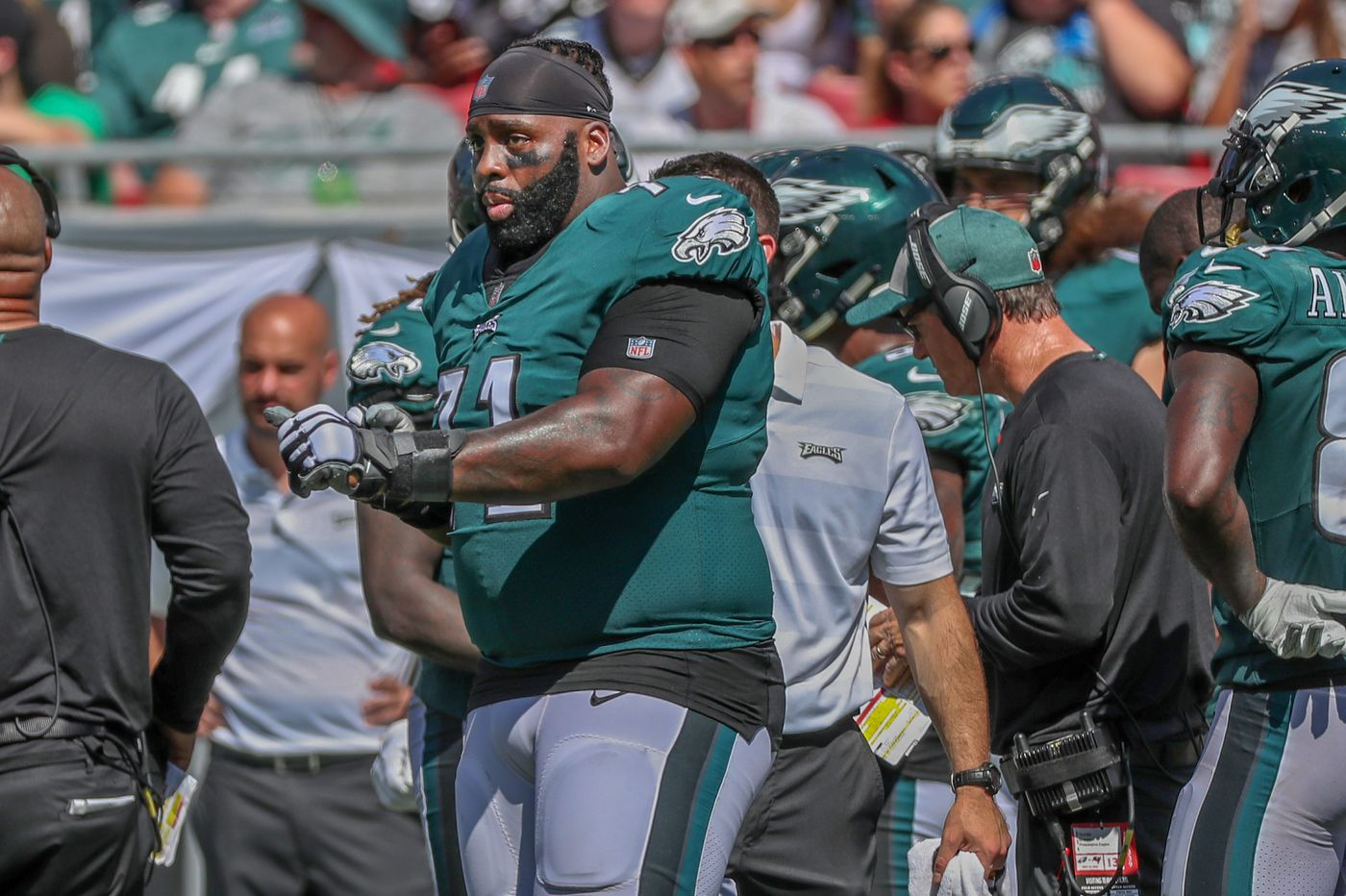 Among lessons of Eagles' loss to Buccaneers: Jason Peters is more effective as a player than a coach