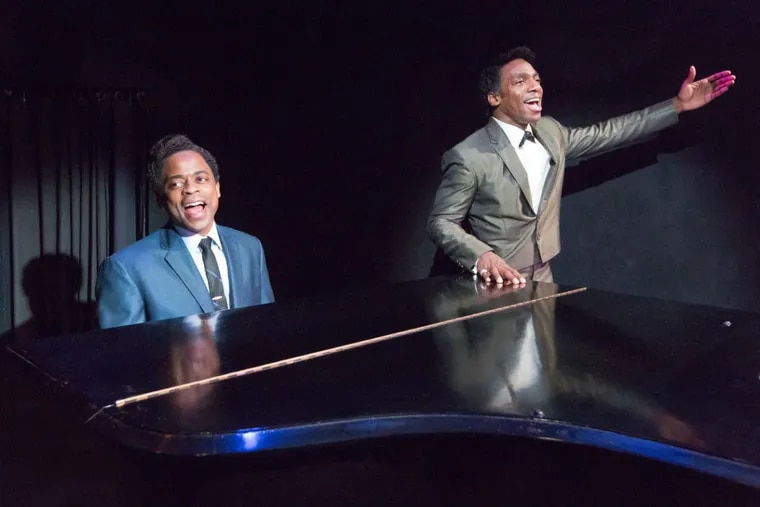 """Dulé Hill (left) as Nat """"King"""" Cole and Daniel J. Watts as Sammy Davis Jr. in the People's Light production of """"Lights Out: Nat 'King' Cole,"""" through Dec. 3."""
