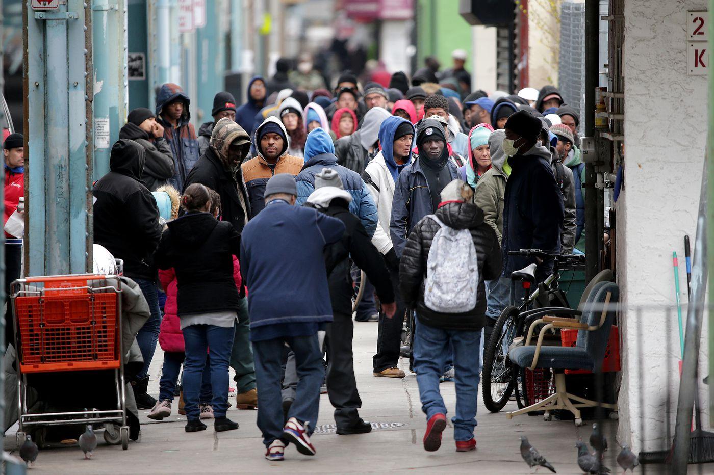 As the coronavirus spreads, staving off hunger is a challenge in Kensington, Philadelphia's poorest neighborhood