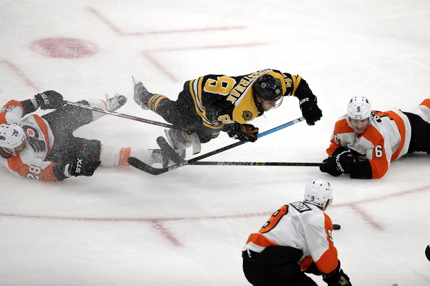 Travis Sanheim's overtime goal lifts Flyers past Bruins for sixth straight win