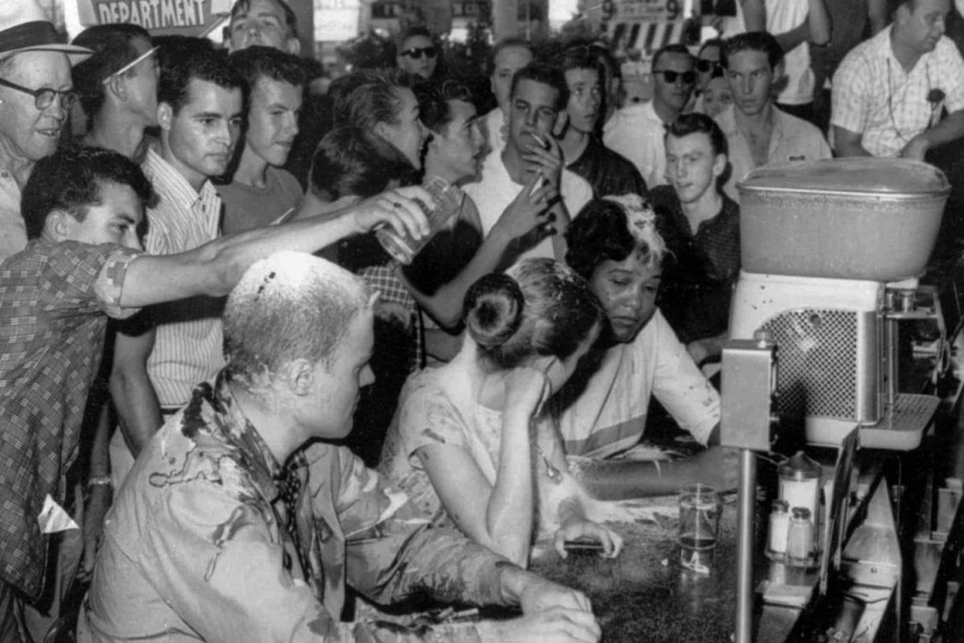 Before video of a Starbucks arrest, images of lunch counter sit-ins helped launch a movement