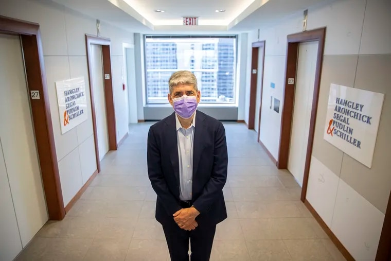 David Scolnic, a shareholder at Hangley Aronchick Segal Pudlin & Schiller, at the law firm's One Logan Square office in Philadelphia. Employers are  grappling with how to bring people back to the office and keep them comfortable.