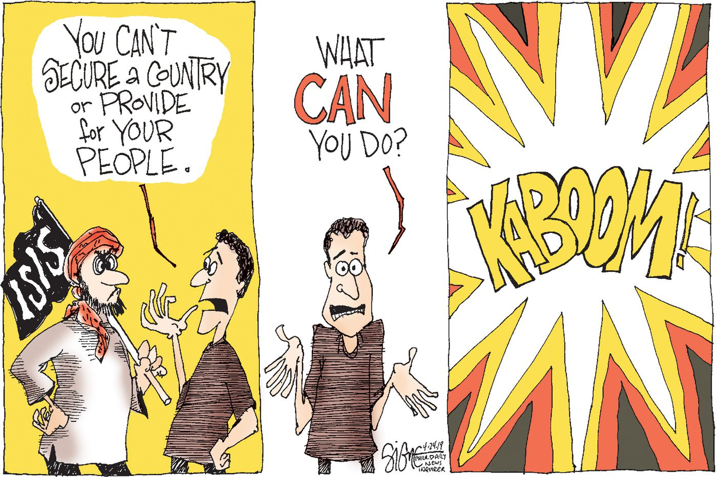 Political Cartoon: What can ISIS do?
