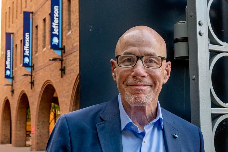 Stephen K. Klasko announced his retirement as president and CEO of Thomas Jefferson University effective Dec. 31. Here he is shown on the Center City campus.