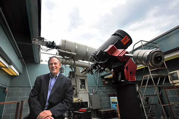 Villanova astronomer Edward Guinan is searching near dimmer stars for planets that are not too hot, not too cold, but just right. (Sharon Gekoski-Kimmel / Staff Photographer)