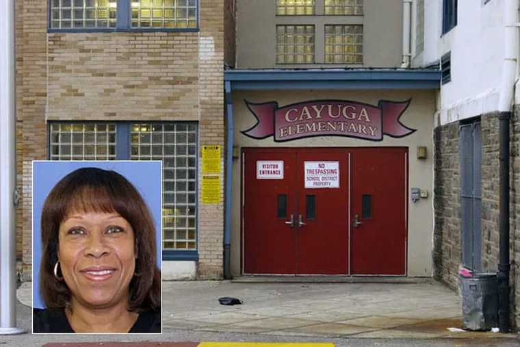 Evelyn Cortez (inset) principal, and four teachers at Cayuga Elementary School have been charged with fostering a culture of cheating there over a  5-year period, Attorney General Kathleen Kane announced Thursday.