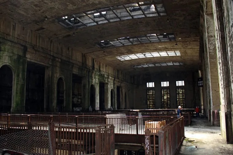 The inside of the former Delaware Station electric plant on the Delaware River in the city's Fishtown section.