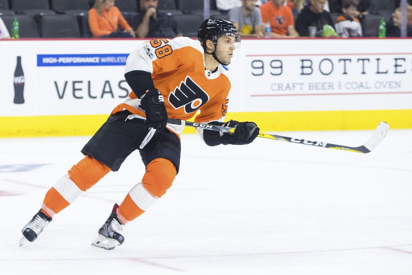 Winger Taylor Leier appears to have won a spot with Flyers