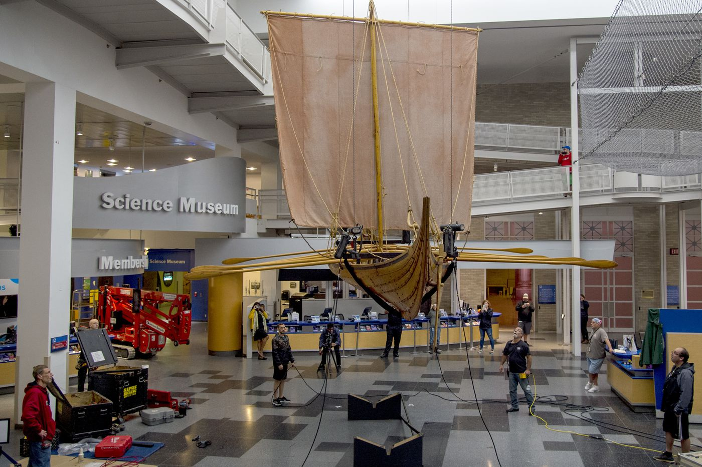 32-foot-long Viking ship arrives at the Franklin Institute