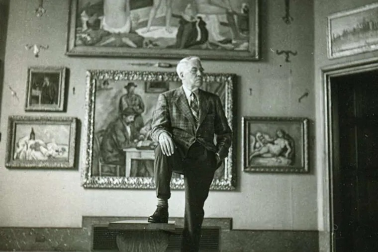 Albert C. Barnes in the main gallery in Merion. Now that his collection is a public museum, its negative qualities become more prominent, particularly its disregard of history.
