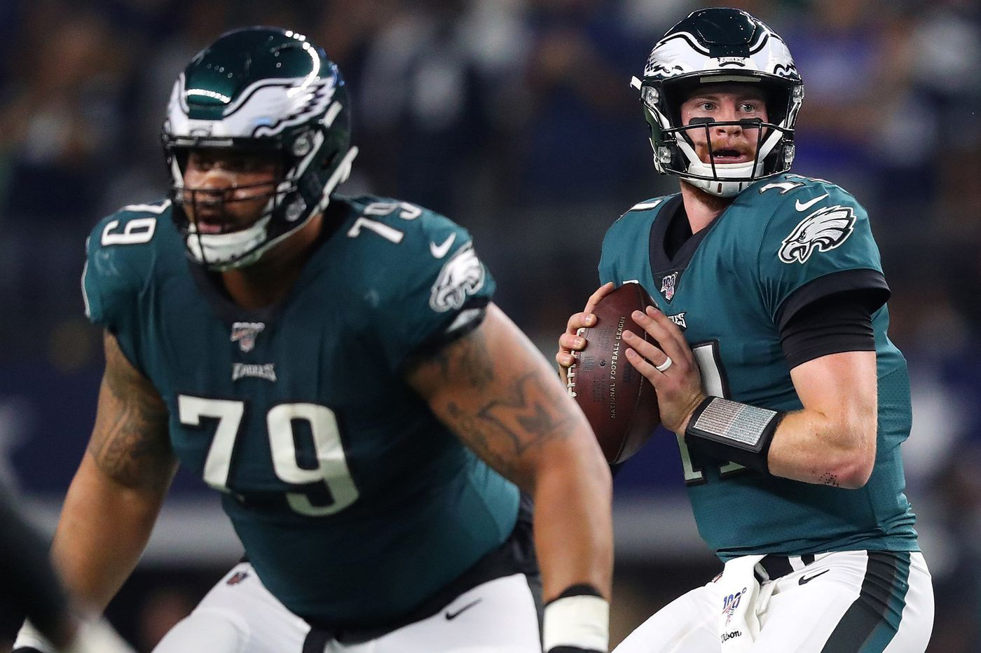 Carson Wentz, counseled by Brandon Brooks, finally comes through for Eagles | Marcus Hayes