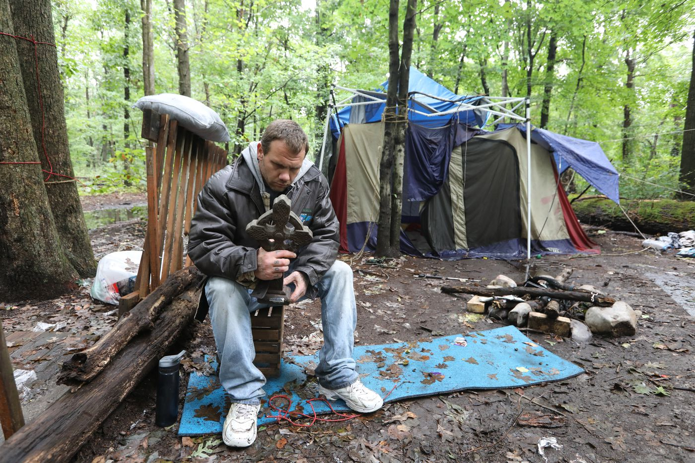 As Bucks County fights homelessness, some entrenched camps hide in plain sight